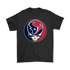 NFL Team Houston Texans x Grateful Dead Logo Band Shirts - NFL T-Shirts Store  nfltshirt.com/ #Football #GratefulDead #Housto