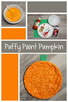 This puffy paint pumpkin is a great fall process art activity for preschoolers! Includes a simple recipe to make your own puffy paint - it's so easy the kids can even help! Process Art Preschool, Fall Preschool Activities, Preschool Crafts, Sensory Activities, Toddler Activities, Fall Arts And Crafts, Fall Crafts For Kids, Toddler Crafts, Spring Crafts