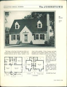 """1948 Floor Plan: """"The traditional styles after the War ...  