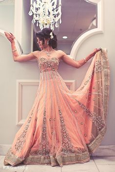 Wedding reception indian outfit bollywood for 2019 Pakistani Dresses, Indian Dresses, Indian Outfits, Anarkali Dress, Pakistani Clothing, Anarkali Suits, Punjabi Suits, Bridal Dresses, Prom Dresses