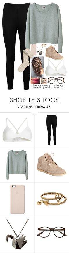 """Untitled #1462"" by malfoys-princess ❤ liked on Polyvore featuring SPANX, Boohoo, Acne Studios, Bearpaw, Black Apple, Alex and Ani, Origami Jewellery, H&M and OPI"