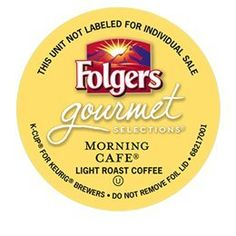 48 Count - Folgers Gourmet Selections Morning Cafe Coffee For Keurig Brewers: Wake up, and greet the morning with the bright taste and eye-opening aroma of Folgers Gourmet Selections® Morning Cafe Coffee Coffee K Cups, Coffee Brewer, Coffee Pods, Hot Coffee, Single Serve Coffee, Cream And Sugar, Coffee Roasting, Keurig, Drinking Tea