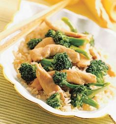 Chicken Stir-fry With Peanut Sauce Over Rice