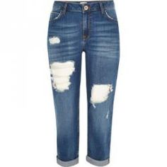 I've added a new product to my Social Superstore - check it out here Tall Boyfriend, Ripped Boyfriend Jeans, Blue Ripped Jeans, Cropped Jeans, Jeans Pants, Slouch Jeans, River Island Fashion, Tall Jeans, Button Fly Jeans
