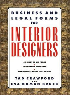 Business and Legal Forms for Interior Designers by Eva Doman Bruck, http://www.amazon.com/dp/1581150970/ref=cm_sw_r_pi_dp_Yznwsb122S396