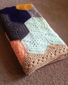 Items similar to BabyLove Brand Geometric Lace Blanket/Afghan, handmade crochet beautiful color/size baby throw - custom available - on Etsy Crochet Borders, Crochet Squares, Granny Squares, Afghan Crochet Patterns, Crochet Stitches, Crochet Afghans, Baby Patterns, Crochet Edgings, Baby Afghans