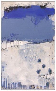 Abstrakte Kunstwerke in blau, blau und nochmals blau... von Daniela Schweinsberg, Frankfurt am Main. Abstrakt, kraftvoll, gestisch. Acryl, Mixed Media, Öl, Spray Paint. Contemporary modern art, abstract art, street art.