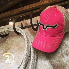 16266e6f78d Kimes Ranch cap - Tan trim and black embroidered horns - Legacy vintage  pink - Tan mesh back - Adjustable snap back - Flexible brim - Soft broke in  feel