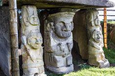 Alguna de las figuras del parque arqueológico de San Agustín en Colombia