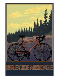 Sierra Nevada Mountains, California - Bicycle on Trails - Lantern Press Artwork Giclee Art Print, Gallery Framed, Espresso Wood), Multi Mountain Biking, Oregon Mountains, Nevada Mountains, Bike Poster, Rocky Mountain National Park, Stock Art, Bike Art, Frames On Wall, Framed Wall