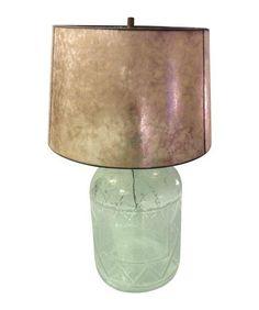 Glass Lamp With Pottery Barn Capice Lamp Shade on Chairish.com