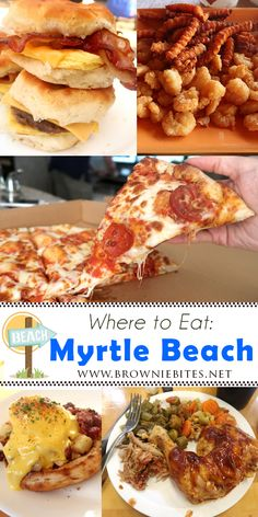 Best and worst places to eat in Myrtle Beach! Find out our thoughts on some of the yummiest food in the Myrtle Beach and Murrell's Inlet areas! Myrtle Beach Boardwalk, Myrtle Beach South Carolina, Myrtle Beach Vacation, Beach Trip, Beach Travel, North Carolina, Food Places, Best Places To Eat, Mrytle Beach Sc