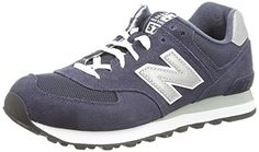 New Balance ML574 D Herren Low-Top Sneakers, Blau (Blue), 7.0 US - 40.0 EU - http://uhr.haus/new-balance/new-balance-ml574-d-herren-low-top-sneakers-blau-7-0