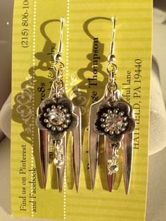 Fork earrings