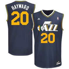 Gordon Hayward Utah Jazz adidas Replica Road Jersey - Navy Blue - $52.24