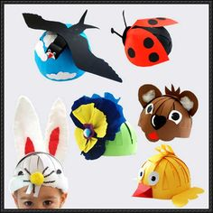 How to Make These Papercraft Hats For Kids - http://www.papercraftsquare.com/make-papercraft-hats-kids.html