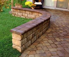 retaining wall and freestanding wall block idea photo gallery enhance companies brick paver
