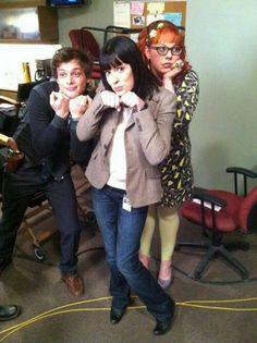 Matthew Gray Gubler (Spencer Reid) , Paget Brewster (Emily Prentiss) , & Kirsten Vangsness (Penelope Garcia) - Criminal Minds