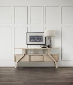 Hooker Furniture Living Room Refuge Accent Console Table 5650-85001-WH Hooker Furniture, Table Furniture, Living Room Entertainment Center, Outdoor Dining Chairs, Quality Furniture, White Oak, Wood Veneer, Console Table, Home Decor