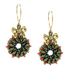 Christmas Wreath Earrings | Fusion Beads Inspiration Gallery
