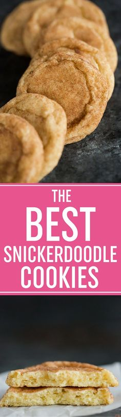 The BEST Snickerdoodle Recipe! Slightly thick, super chewy, and loaded with cinnamon-sugar... a holiday classic! #baking #dessert #cookies #christmas #holidays #easy #chewy via @browneyedbaker