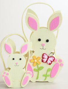 Furniture, Home Decor, Rugs, Unique Gifts Easter Egg Basket, Easter Bunny, Happy Easter, Foam Crafts, Diy Arts And Crafts, Spring Crafts, Holiday Crafts, Felt Bunny, Diy Ostern