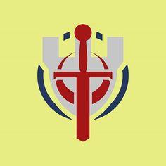 Personal take on shadiversity's logo ___ #logo #logodesigner #graphicdesign #design #designer #branding #vector #flat #minimal #color #red #blue #sword #medieval #shield #history