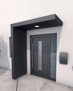 GUTTA Vordach-Set »BS 200«, 200 cm, mit Seitenteil, Aluminium anthrazit für 1.749,99€. Dach BxTxH: 200 x 90 x 14,5 cm bei OTTO