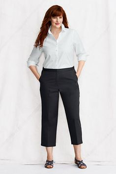 f11ad0811c6 Women s Plus Size Crop Pants from Lands  End (I live in these during the