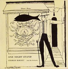 "Charlie Barnet: One Night Stand   Label: Clef 638   12"" LP 1955  Design: David Stone Martin"