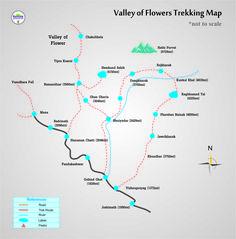 The Valley of Flowers Trekking Packages is an absolute necessity does trek by each trekker who needs to trek in the Himalayas. Valley Of Flowers, Trekking, Map, Adventure, Location Map, Adventure Game, Hiking, Adventure Books, Peta