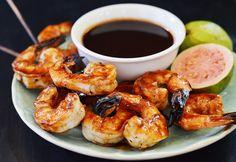 Grilled Shrimp with Rum-Guava Glaze