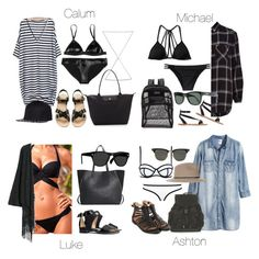 """""""Beach Day - All"""" by fivesecondsofinspiration ❤ liked on Polyvore featuring Rayure, Longchamp, Flexfit, Melissa Odabash, Abercrombie & Fitch, River Island, JanSport, Vans, Zara and A.P.C."""