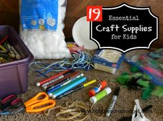19 essential craft supplies that every family should have on hand!