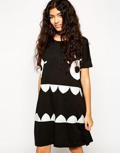 ASOS+Halloween+Monster+Glow+in+the+Dark+T-Shirt+Dress