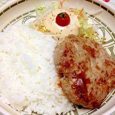 元店長がこっそり教えるびっくり◯ンキーのハンバーグ Side Dish Recipes, Lunch Recipes, Meat Recipes, Asian Recipes, Crockpot Recipes, Cooking Recipes, Hamburger Steak Recipes, Japanese Dishes, Japanese Food