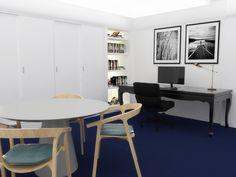 Escritório - Projeto de reforma por Viviane Gobbato Arquitetura. Modelagem e Renderização por Anna-Beatriz Aflalo | Arquitetura e Design
