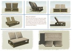 Pallet Couch Furniture by Piero Ceratti