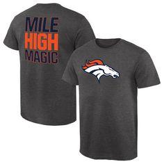 9b976534e Men's Denver Broncos NFL Pro Line by Fanatics Branded Gray Rally Logo  T-Shirt