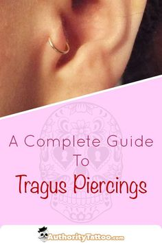 Jewelry OFF! Everything you need to know about tragus piercings including: Pain Aftercare Healing Times Risks Infections Jewellery Example Images. Tragus Piercing Pain, Tragus Piercing Jewelry, Conch Earring, Piercing Aftercare, Tragus Earrings, Body Piercing, Getting Your Ears Pierced, Photography Set Up, Hammered Silver