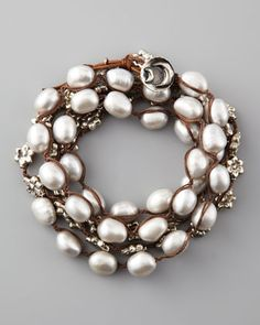 Pearl Wrap Bracelet, Gray by Love Heals at Neiman Marcus.