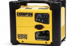 Champion Power Equipment Portable and Parallelable Inverter Watt Generator 2000 Watt Generator, Power Generator, Yamaha Engines, Portable Inverter Generator, Champion, Modem Router, Sump Pump, Equipment For Sale, Phone Charger