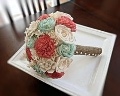 Handmade Wedding Bouquet- Bridal Bridesmaid Bouquet, Alternative Bouquet, Fall Autumn Bouquet Keepsake Bouquet, Rustic Wedding. $80.00, via Etsy.