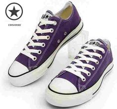 Dark purple Converse | Chucks | shoes | I want these