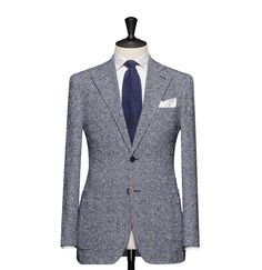 Tailored Jacket – Fabric 8140 Glencheck Blue Cloth weight: 290g Composition: 83% Linen and 17% Polyamide