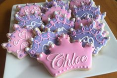 princess tiara cookies by www.cakethatbakery.com