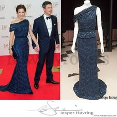 Crown Princess Mary of Denmark wore JESPER HOVRING Dress