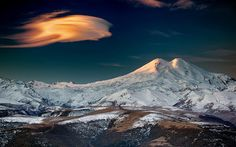 Mt. Elbrus is a dormant volcano located in the western in Kabardino-Balkaria and Karachay–Cherkessia of Russia and is the highest in the Caucasus Mountains and in Europe.