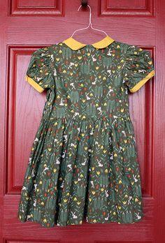 vintage woodland dress.