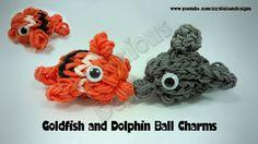 Rainbow Loom Fish/Dolphin Ball Charm Tutorial by Kate Schultz of Izzalicious Designs